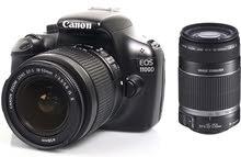كاميرة كانون للبيع 1100D مع 3 عدسات.