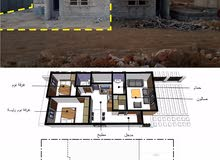 منزل عظم للبيع  مساحة المبني 85 والارض 340