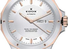 ساعة edox اصلية اوتوماتيك صناعة سويسرية