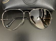 نظارات RayBan اصلية/ حجم الكبير/ لون بني /عدسة مكسورة