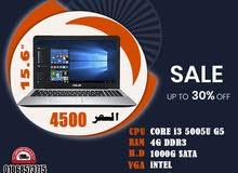 ASUS X555L برسيسور : كور i3 جيل خامس رمات : 4جيجا DDR3 // هارد : 1000ساتا