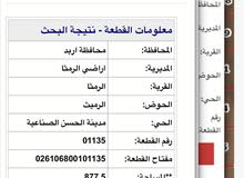 ارض للبيع في اربد/الرمثا/حوض رميث/ شرق جامعة العلوم مساحه دونم بقوشان مستقل