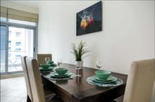 دبي مارينا  غرفتين وصالة برج راقي مع بلكونة واطلالة مفتوحة علي المارينا- ايجار شهري شامل