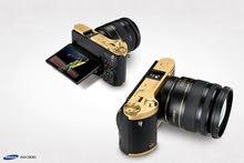 Samsung  Nx300 22k  gold pleate - mirrorless Camra .