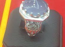 Real silver 925 Ring with aqeeq stone