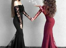 فستان لون اسود