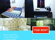 350 BHD Fully furnished flat for rent 8n Hidd