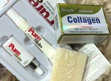 صابونة الكولاجين تبيض البشرة واعادة تجديده