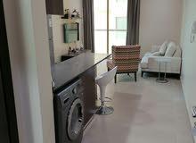 للايجار شقة مفروشة من غرفة وصالة ومطبخ ودورتين مياه وقريبة من جميع الخدمات في الجفير