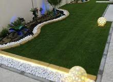 تركيب جميع انواع العشب الصناعي والانتر لوك