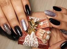 Shellac Nails (gel colour), Extention, manicure & pedicure, تركيب اظافر ،جل لون