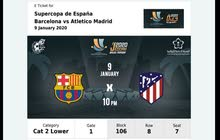 Final Ticket for Real madrid vs Barcelona