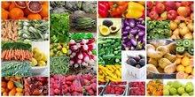 بيع خضروات وفواكة طازجة