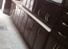 مطبخ 6متر مستخدم نظيف جدا جدا للبيع مع التوصيل والتركيب 1200