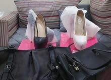 مجموعة شنط مع أحذية مقاس 36 جديد