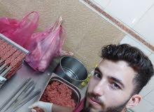 معلم سوري تجهيز لحوم شرقي أو سلايط