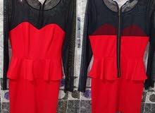 فستان احمر قصير