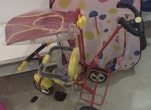 للبيع دراجة جديدة و بساط اطفال