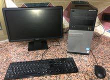 كمبيوتر نوع DELL بحال الجديد مع طابعة ليزر