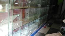 امياز زجاج(الطول 1,30متر) (العرض 5متر مقسمه الى اقسام )