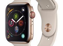 ساعة ابل ستانلس ستيل ذهبية Apple watch series 4 stainless steel
