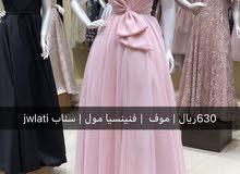 فستان سهرة مستعمل لمرة واحده للبيع