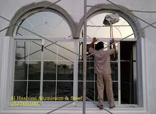 Aluminum Door windows, curtain walls , devorative villa doors, shower glasses