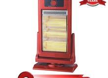 مدفأة هالوجين كهربائية من نيكاي ، 1200 واط ، احمر ، NHH6500