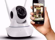 كاميرا مراقبة عن بعد ذكية واي فاي وعن طريق الانترنت متحركة متوافقة مع الايفون والاندرويد والكمبيوتر