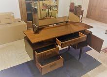 تواليت مكتب انتيك قطعه مميزه Rare Vintage Mid-Century Danish Retro Teak Dressing Table / Desk