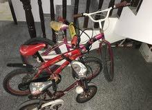 Assorted children's bikes