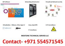 ERP Software, Virtualization, Firewall, Site to Site VPN Solution, Networking, CCTV Surveillance