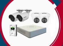 4 كاميرات مراقبة 2 ميجا هاردسك 1 تار