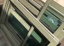 للبيع 3 نوافذ المنيوم