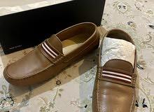 حذاء جلد اوروبي (ساكور) sacoor مع كارلو موراندي carlo morandi