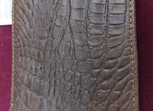 محفظه جلد تمساح طبيعي