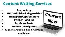 Content Writing Services; Articles, Ads, Product Descriptions