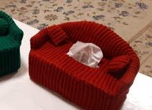handmade crochet tissue box cover