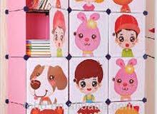 دولاب اطفال ديزني بلاستيك مربعات سهل التركيب والفك حسب المكان
