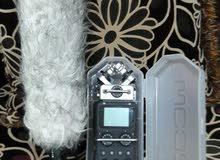جهاز zoom recorder h5 مع بوم مايك نوع boya مع بلمزة صوف