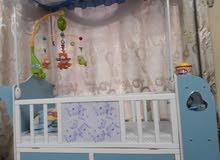 سرير طفل ممستعمل فقط شهر ما بي اي خدش او ضرر