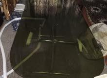 طاولة زجاج ومكاتب كمبيوتر خشب للبيع