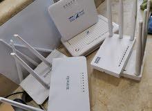 جهاز DSL و مودم LNET و مقوي شبكة