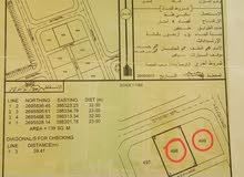 للبيع أرضين شبك سكنيات الموقع (العوهه) ولاية محضة