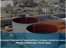 Excellent Engineering Opportunities in a Heavy industrial project  / South Egypt