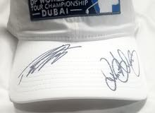 white golf cap with Rory Macilroy & Tommy Fleetwood Signed Authograph