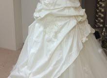 فستان سهرة بسيط للايجار او البيع