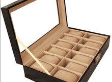 Twelve Compartment watch box organizer- Black