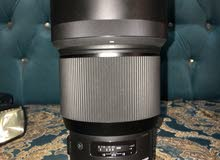 lens : Sigma 85mm f/1.4 Art ( 750$ ) للنيكون