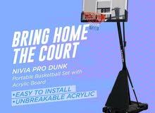 NIVIA Pro Dunk Portable Basketball Set with Acrylic Board